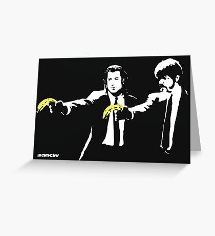 Banksy - Pulp Fiction Banana Guns Greeting Card
