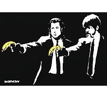 Banksy - Pulp Fiction Banana Guns Photographic Print