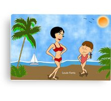 He Whistled At Me, Mommy Canvas Print