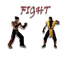 Tekken V.S. Mortal Kombat Photographic Print