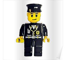 Minifigure Lego Officer Poster