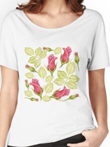pattern with roses Women's Relaxed Fit T-Shirt
