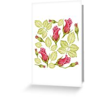 pattern with roses Greeting Card