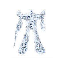 Transformers 'Optimus Prime' Word Art - 'George' Photographic Print