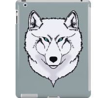 Blue eyes snow wolf iPad Case/Skin