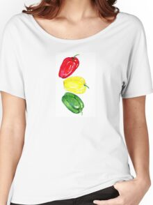 Three Peppers Art 2 Women's Relaxed Fit T-Shirt