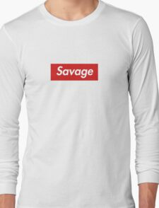 21 savage box logo Long Sleeve T-Shirt