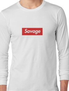 21 savage box logo Long Sleeve T-Shirt