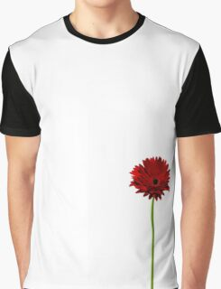 Long stem single red Gerbera daisy Graphic T-Shirt
