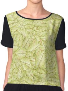 pattern with leaves of rose Chiffon Top