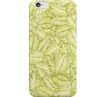 pattern with leaves of rose iPhone Case/Skin