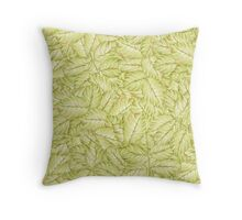 pattern with leaves of rose Throw Pillow