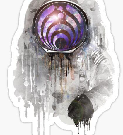 apollo 11 bass head Sticker