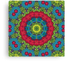 Psychedelic LSD Trip Ornament 0011 Canvas Print