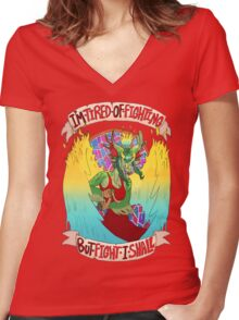 A Prison Cell - Lined edition Women's Fitted V-Neck T-Shirt