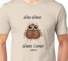 Barista Coffee Owl Unisex T-Shirt