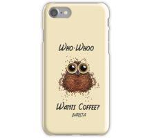 Barista Coffee Owl iPhone Case/Skin