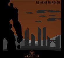 Minimalist Halo Reach Poster by Jordan Garvey