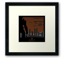 Minimalist Halo Reach Poster Framed Print
