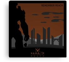 Minimalist Halo Reach Poster Canvas Print