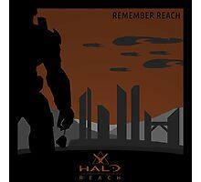 Minimalist Halo Reach Poster Photographic Print