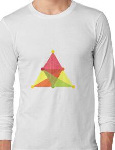 Crisscross Triangle Long Sleeve T-Shirt
