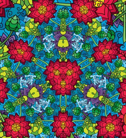 Psychedelic LSD Trip Ornament 0012 Sticker