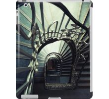 Spiral staircase in green and blue iPad Case/Skin