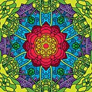 Psychedelic LSD Trip Ornament 0014 by Andrei Verner