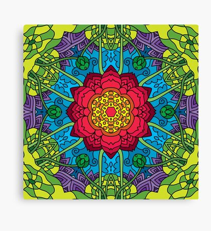 Psychedelic LSD Trip Ornament 0014 Canvas Print