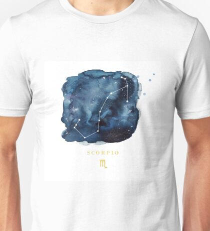Scorpio Zodiac Constellation Unisex T-Shirt
