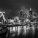 Melbourne at Night  by Christine Wilson
