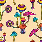 Psychedelic Magic Mushroom Ornament 0001 by Andrei Verner