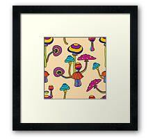 Psychedelic Magic Mushroom Ornament 0001 Framed Print