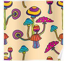 Psychedelic Magic Mushroom Ornament 0001 Poster