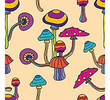 Psychedelic Magic Mushroom Ornament 0001 Photographic Print