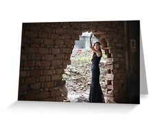 woman in  abounded place  Greeting Card