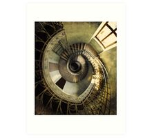 Spiral staircase in pastels Art Print