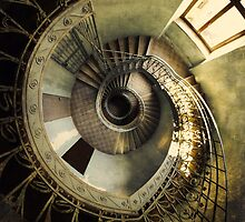 Spiral staircase in pastels by JBlaminsky