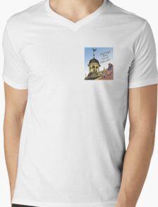 Delaware's Old State House Steeple Greetings Mens V-Neck T-Shirt