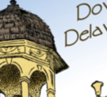 Delaware's Old State House Steeple Greetings Sticker