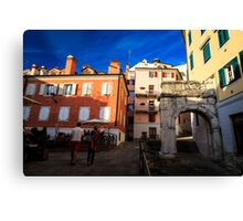 The Richard's Arch in Trieste Canvas Print