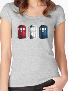 Tardis - RWB Women's Fitted Scoop T-Shirt
