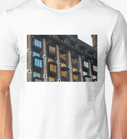 The Old and the New - London Big Ben Reflected in a Modern Building Unisex T-Shirt