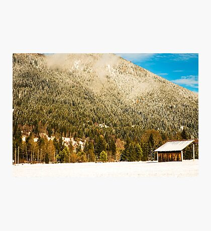 First snow at the mountain Photographic Print