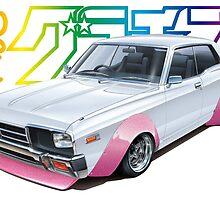 Vintage JDM Model Box Art!!! Nissan Cedric 330!!!! by Godfoot808
