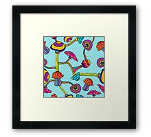 Psychedelic Magic Mushroom Ornament 0003 Framed Print