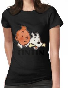 tintin_snowy Womens Fitted T-Shirt