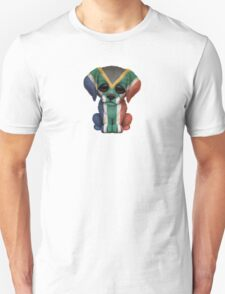 Cute Patriotic South African Flag Puppy Dog Unisex T-Shirt