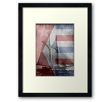 patriotic sail Framed Print